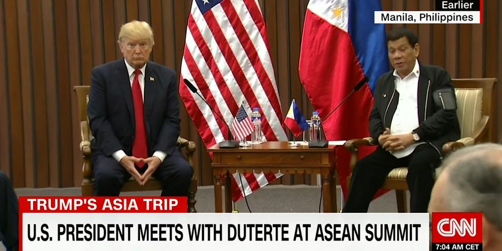 Trump om sin relation med Duterte